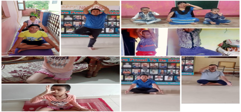 "Celebrate ""YOGA DAY"" as per guidelines of CBSE. Teachers and Students practiced YOGA from home. Yoga"
